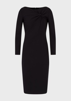 Emporio Armani Milano Stitch Dress With Front Knot