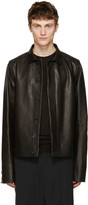 Rick Owens Black Leather Brotherhood Jacket