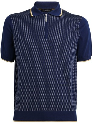 Stefano Ricci Stitch Pattern Zipped Polo Shirt