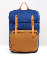 Asos Backpack With Contrast Pocket