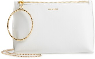 Ted Baker Ingaah Ring Handle Leather Crossbody Bag