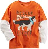 Carter's Little Boys Long-Sleeve Layered-Look Graphic Tee