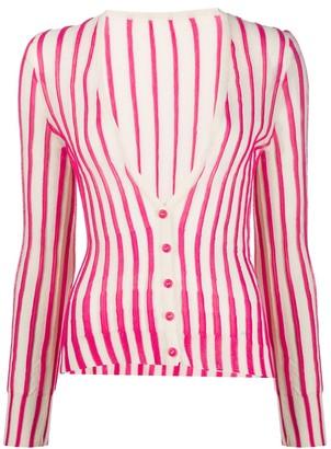 Jacquemus Le gilet Manosque striped cardigan