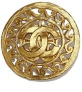Chanel Gold-Tone CC Brooch