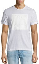 True Religion Debossed Logo-Graphic Short-Sleeve T-Shirt, White