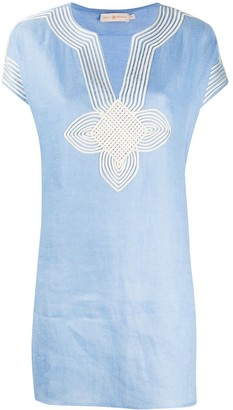 Tory Burch Embroidered Shift Blouse