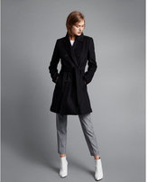 Express petite premium wool blend belted trench coat