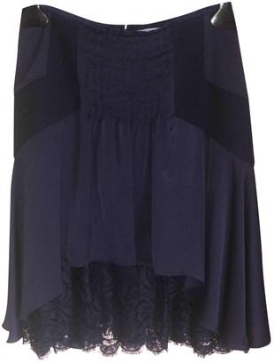 Blumarine Blue Silk Skirt for Women