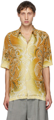 Dries Van Noten Multicolor Six Button Short Sleeve Shirt