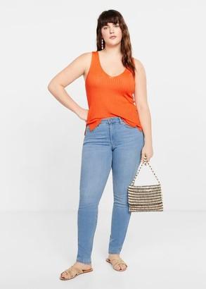 MANGO Violeta BY Slim-fit Susan jeans light blue - 8 - Plus sizes