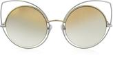 Marc Jacobs MARC 10/S TWMFQ Gold & Silver Metal Cat Eye Women's Sunglasses