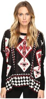 Romeo & Juliet Couture Geometric Print Knit Sweater