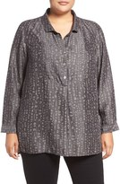Nic+Zoe Plus Size Women's Nic+ Zoe Darling Print Denim Tunic