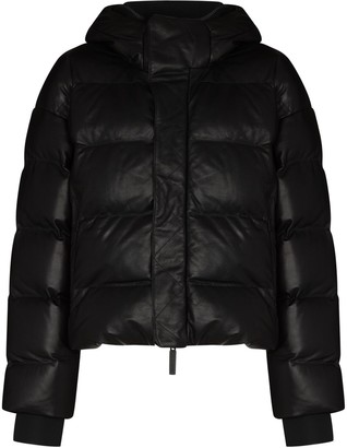 TEMPLA Hooded Padded Cropped Jacket