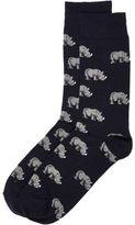 River Island MensNavy rhino print socks