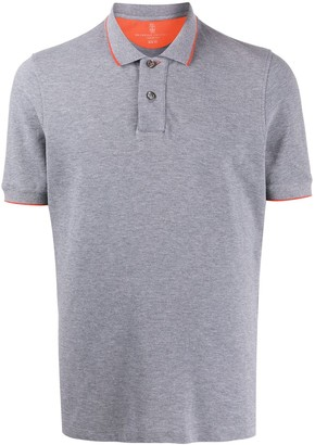 Brunello Cucinelli Short-Sleeve Fitted Polo Shirt