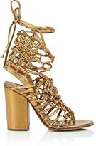 Alumnae ALUMNAE WOMEN'S KNOTTED METALLIC LEATHER SANDALS