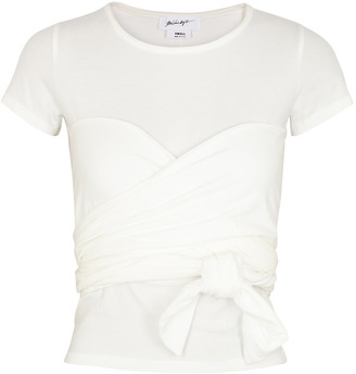 The Line By K Jeanna White Stretch-cotton T-shirt