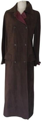 Loewe Brown Suede Coat for Women