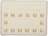 Valentino Off-White Garavani Rockstud Cardholder