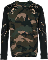 Valentino camouflage panther sweatshirt - men - Cotton/Polyamide - S