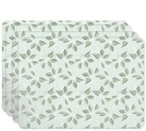 uneekee Pastel Green Placemat Set of 4 Vinyl Easy Clean Heat Insulation Stain-resistant