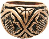 I Love Copper Rings - Size 8 Solid copper ring size 8 - CTR2032- 1/2 inch wide.