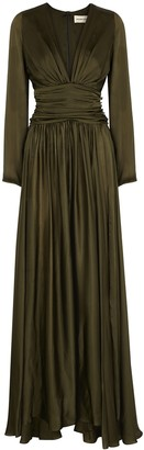 Alexandre Vauthier Army green silk gown