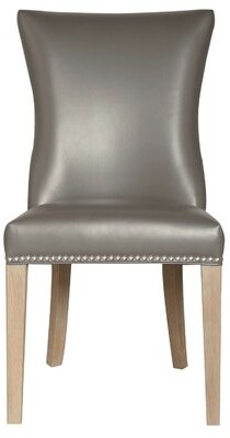Three Posts Derwent Upholstered Side Chair (Set of 2 Finish: Pebble
