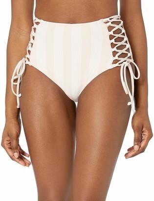 Splendid Women's High Waist Swimsuit Bikini Bottom