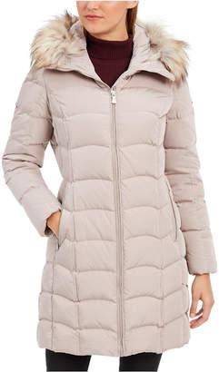 Calvin Klein Hooded Faux-Fur-Trim Down Puffer Coat