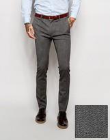 Asos Super Skinny Suit Pants In Salt and Pepper