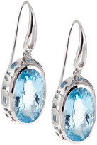 Roberto Coin Mauresque 18k Blue Topaz & Diamond Drop Earrings