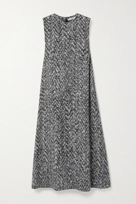 The Row Adda Wool-blend Boucle Midi Dress - Gray