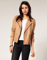 Urbancode Chunky Zip Leather Biker Jacket