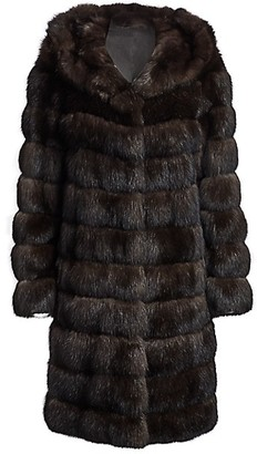 The Fur Salon Hooded Sable Fur Coat
