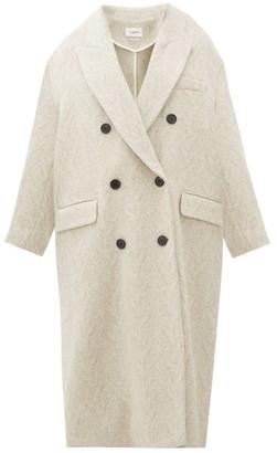 Etoile Isabel Marant Ojima Wool-blend Herringbone-tweed Coat - Womens - Ivory