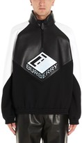 Burberry Logo Embroidered Motif Colour Block Pullover
