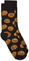 Topman Black Halloween Pumpkin Socks