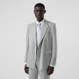 Burberry English Fit Cashmere Silk Jersey Double-breasted Jacket