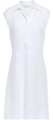 MICHAEL Michael Kors Tie-neck Cotton-blend Corded Lace Mini Dress