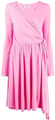 MSGM knee length wrap dress