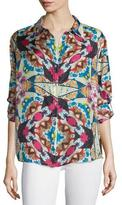 Johnny Was Kay Long-Sleeve Printed Blouse, Plus Size