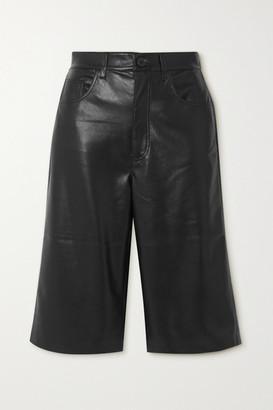 Nanushka Nampeyo Vegan Leather Shorts - Black