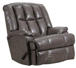 Artemis Recliner Lane Furniture Upholstery: Genuine Leather Gray, Reclining Type: Manual, Motion Type: Rocker