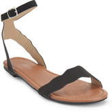 Scalloped Ankle-Strap Sandal