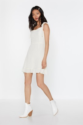 Nasty Gal Womens You Frill Me Ruffle Mini Dress - white - 8