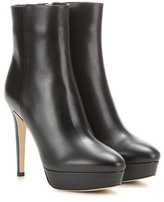 Jimmy Choo Maggie 115 Platform Leather Ankle Boots
