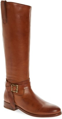 Frye Melissa Leather Knotted Tall Riding Boot