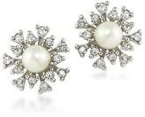 Carolee 21 Club 6MM Faux Pearl Burst Studded Pierced Earrings